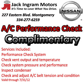 Jack Ingram Montgomery Nissan Service Coupons  (1/5)