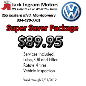 Volkswagen Service Coupons at Jack Ingram Volkswagen Montgomery