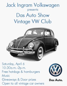 Vintage VW Club Flyer