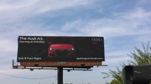 Audi billboard